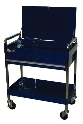 Drawer Service Cart, Blue Furniture Carts Islands Kitchen Dining Carts