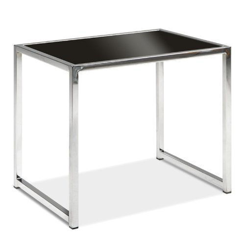 Cheap Avenue Six Yield End Table with Black Glass Top and Chrome Finish Frame. (B004UR8ACO)