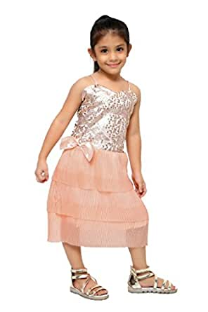 Pink Party Wear Designer Frock Clothing