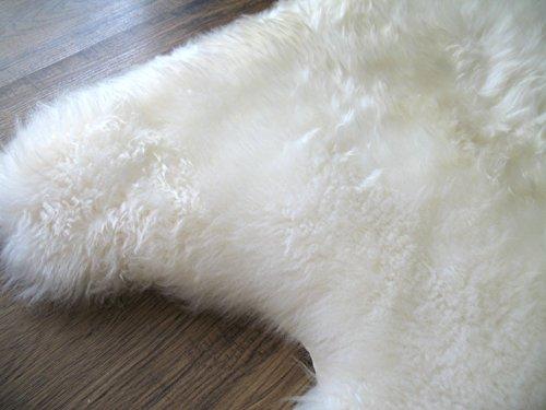A-STAR(TM) Longwool Sheep skin Rug - Double - Ivory White 2x6 Sheep Rug