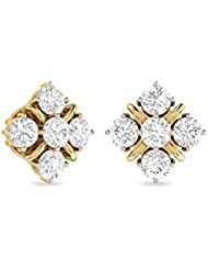 WearYourShine By PC Jeweller The Nital Collection 18k Yellow Gold And Diamond Stud Earrings