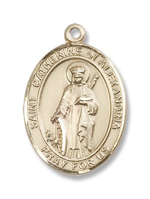 Gold Filled St. Catherine of Alexandria Medal