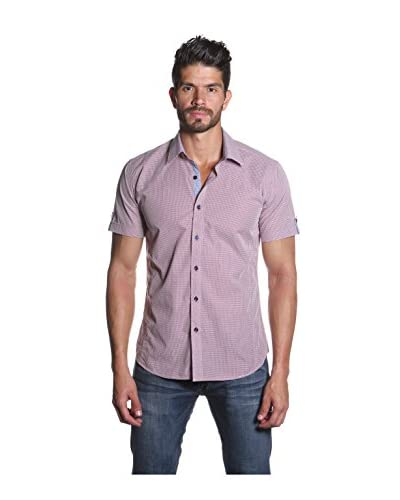 Jared Lang Men's Short Sleeve Shirt with Contrast Placket