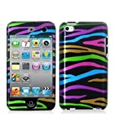 Fosmon Rainbow Zebra Design Two Piece Snap-On Hard Cover Case for Apple iPod touch 8GB 32GB 64GB (4th Generation) 4 4G