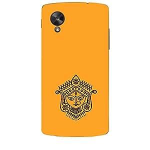 Skin4gadgets Maa Ambe Durga - Line Sketch on English Pastel Color-Orange Phone Skin for NEXUS 5