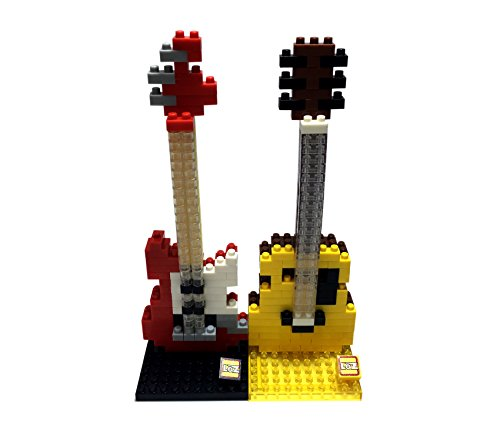 YoFit-LOZ-Diamond-Blocks-Electric-Guitar-Acoustic-Guitar-2Set-5Inch-Building-Blocks-Childrens-Educational-Toys-280PCS