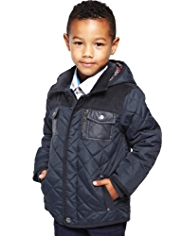 Autograph Hooded & Quilted Coat