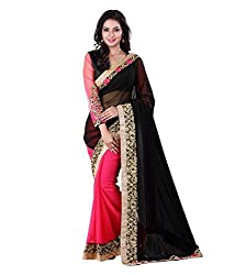 Shubhkari Fashion Multicoloured Georgette Women's Fancy Saree With Blouse(SF_021_FANCY_GIFT_SISTER_MOTHER)
