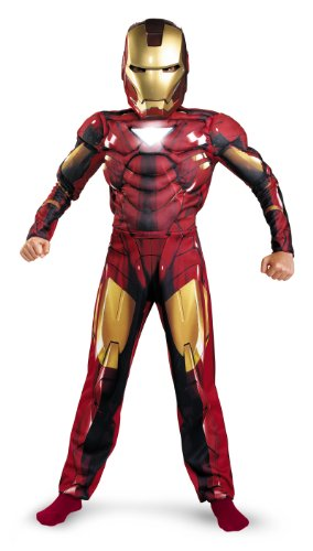 Iron Man 2 Mark 6 Classic Muscle Costume, Child S(4-6)