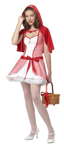 California Costumes Teen Red Riding Hood Dress with Capelet Costume
