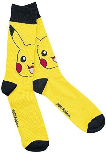 Ufficiale di Pokemon Pikachu carattere equipaggio stile novità calzini uomo - dimensioni