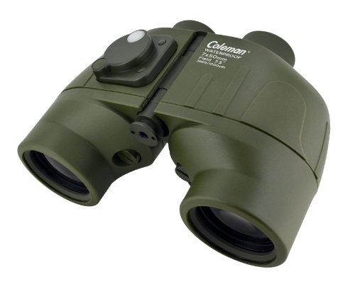 Coleman Cs750Wpif Signature 7X50 Waterproof Binoculars With Built-In Compass (Green)