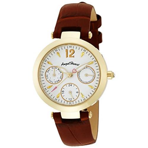 [エンジェルハート]Angel Heart 腕時計 ラブタイム ホワイトパール文字盤  カーフ革ベルト デイト LV30YGBW レディース