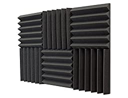 Silverback Sound Dampening Foam, 2'' Thick, 1ft x 1ft, 6 Pack