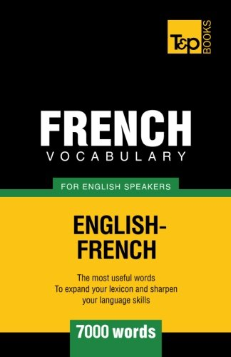 French vocabulary for English speakers - 7000 words