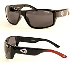 NFL Officially Licensed Kansas City Chiefs Chollo-style Rectangular Sunglasses by NFL