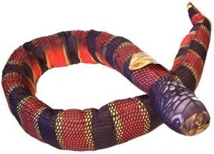 Giant 6 Foot Long Soft Cuddly Coral Snake - 1