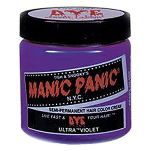 MANIC PANIC Semi-Permanent Hair Color Cream Ultra Violet 4oz