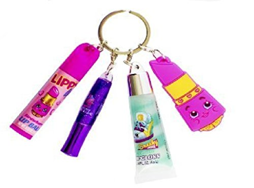shopkins-lip-set-keychain-w-charm-gloss-and-lip-balm-ages-5-new-sealed