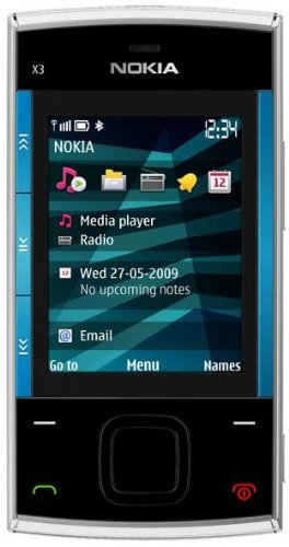 Nokia X3 (X3-00) BLUE/SILVER Unlocked Phone
