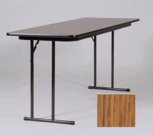Correll St1872Px-06 .75 Inch High-Pressure Off-Set Leg Seminar Table - Med Oak