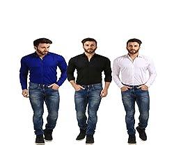 Mesh Full Sleeves Casual Cotton Blend Shirt for Men's/Boy's (Multi-Coloured) -40
