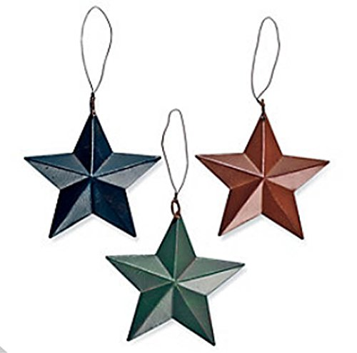 Tin Barn Star Ornament Set