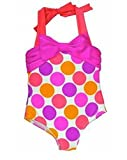 Love U Lots Little Girls Beautiful Dotted Halter One Piece Swimsuit