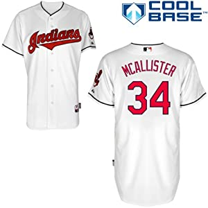 Zach Mcallister Cleveland Indians Home Authentic Cool Base Jersey by Majestic by Majestic