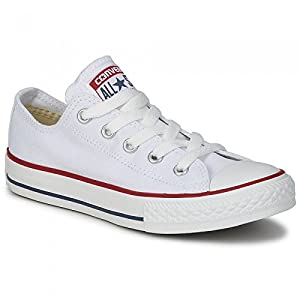 Converse Chuck Taylor All Star Core Ox - Zapatillas de lona unisex, color blanco (optical white), talla 39