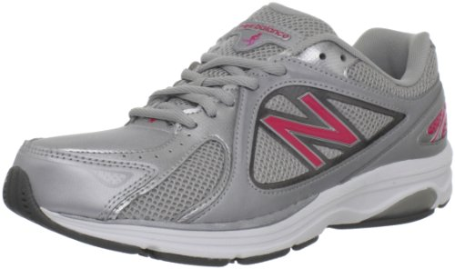 New Balance Women's WW847 Health Walking Shoe,Grey/Pink,8 D US