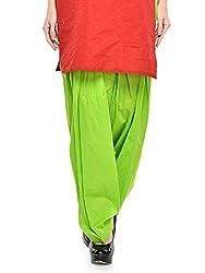 Stylenmart Women Cotton Solid Full Patiala Salwar (Stmapa078623 _Green _Free Size)