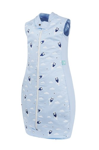 ergoPouch Organic Cotton Sleeping Bag (1 TOG) - Rocket Blue - 2-12 Months - 1