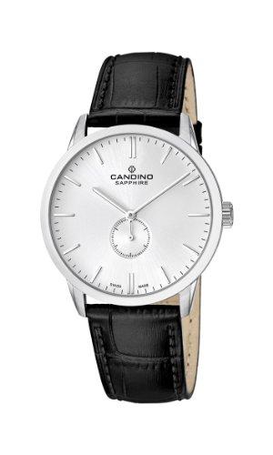 Candino C4470/1 - Reloj analógico de cuarzo para hombre con correa de piel, color negro