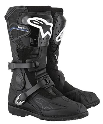ALPINESTARS TOUCAN GORE-TEX MOTORCYCLE BOOTS MX MOTORBIKE BOOT BLACK J&S (EURO 42 / UK 8)