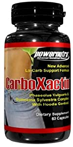 Carboxactin - 60 Capsules Carb Blocker With Hoodia Gordonii Atkins Weight Loss Diet Pills by PowerNutra