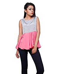 Tryfa Women's Top (Tryfa-84-XL_Pink_X-Large)