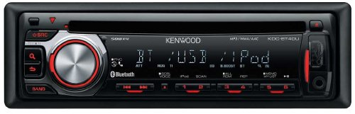 Kenwood KDC-BT40U Built-In Bluetooth CD Receiver with Front AUX / USB-iPod / iPhone Direct Control