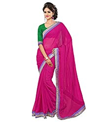 My online Shoppy Chiffon Saree (My online Shoppy_44_Pink)