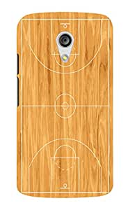 Back Cover for Moto G (2nd Gen) Basket ball Court