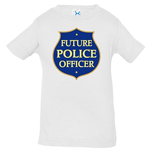 Inktastic Cute Future Police Officer Baby T-Shirt 12 Months White front-657465