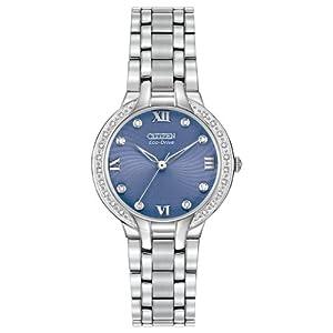 Citizen Women's EM0120-58L Bella Analog Display Japanese Quartz Silver Watch