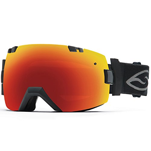 Smith I/OX Snow Goggle – Black Frame with Red Sol-X and Blue Sensor Lenses