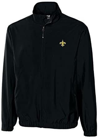 NFL New Orleans Saints Mens WindTec Astute Full Zip Windshirt by Cutter & Buck