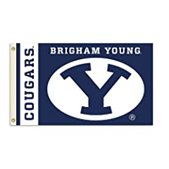 Buy NCAA Brigham Young Cougars 3-by-5 Foot Flag With Grommets by BSI