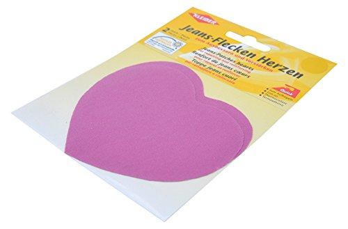 kleiber-herzformige-jeans-flicken-zum-aufbugeln-pinkfarbenfarben