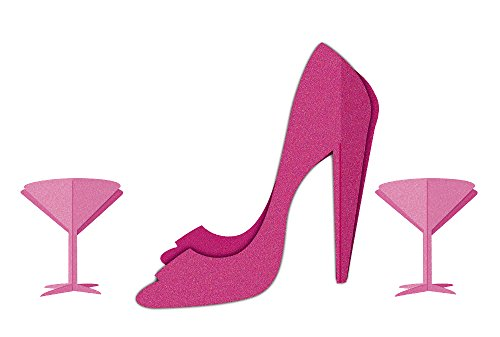 Martini and Heels 3D Centerpiece