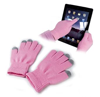 Buy Here Click Here® E-volve Touch-Glove Capacitive Material Cold Weather Gear (Pink)