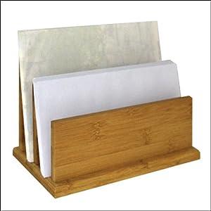 Letter tray letter rack desk organiser bamboo filing for Bamboo letter tray