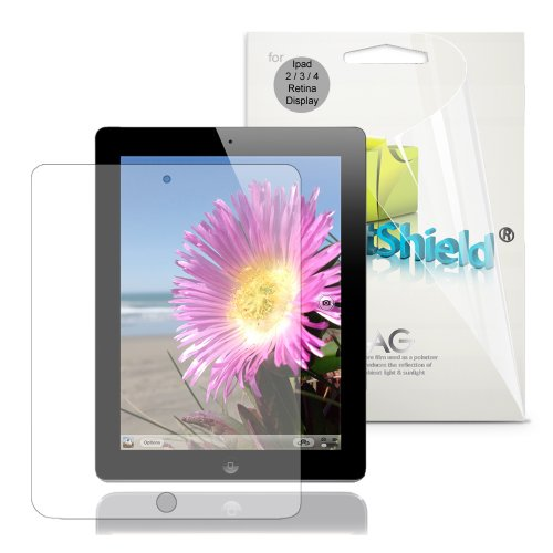 GreatShield Ultra Anti-Glare (Matte) Clear Screen Protector Film for &quot;The New iPad&quot; 3rd Gen iPad 3 3rd Generation / iPad 4 4th Gen / Apple iPad 2 (3 Pack)